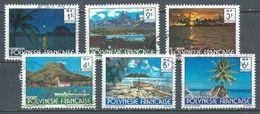 Polynésie Française YT N°132/137 Paysages Oblitéré ° - French Polynesia