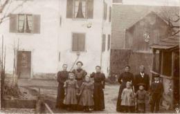 Personengruppe Am Bauernhof * Poststempel Affoltern 2. 1. 1908 - ZH Zurich