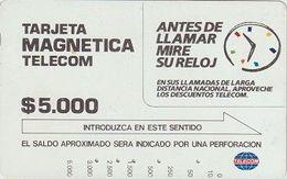 125/ Colombia; Antes De Llamar Mire Su Reloj, Tamura - Kolumbien
