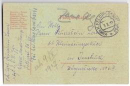 Feldpost-carte  - Empire D'Autriche-Hongrie - War 1914-18