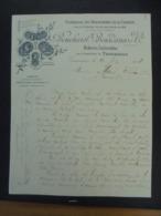 FACTURE - 19 - DEPARTEMENT DE LA CORREZE - BRIVE 1904 - ARDOISIERES DE LA CORREZE : BOUCHAREL, BOURDARIAS ET CIE - France