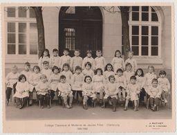 LOT 2 PHOTOS CHERBOURG DONT UNE IDENTIFIEE-COLLEGE CLASSIQUE ET MODERNE DE JEUNES FILLES 1955-1956. - Cherbourg