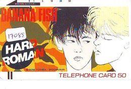 Télécarte Japon * 110-10379 * MANGA * BANANA FISH * HARD ROMAN   * ANIME Japan (17.085) FRONT BAR Phonecard Balken TK - BD