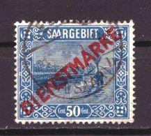 Saargebiet Dienst 9 Used (1922) - Deutschland