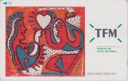 Télécarte Ancienne JAPON / 110-011 - PEINTURE USA - ANDRE MIRIPOLSKY - Pub Radio TFM - JAPAN PAINTING Phonecard - 1911 - Peinture