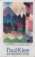 TC JAPON / 110-011 - PEINTURE SUISSE - PAUL KLEE - RETROSPECTIVE -  PAINTING SWITZERLAND SCHWEIZ JAPAN Phonecard- 1912 - Peinture