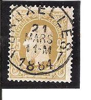 N° 32 Obl CENTRALE BRUXELLES 1 1884 LOT V105 - 1884-1891 Léopold II