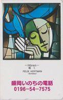 TC JAPON / 110-011 - PEINTURE SUISSE - FELIX HOFFMAN - HÖREN -  PAINTING SWITZERLAND SCHWEIZ JAPAN Phonecard- 1913 - Peinture