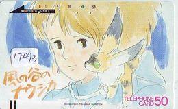 Télécarte Japon * 110-16272 *  NAUSICAÄ By MIYAZAKI * ANIME Japan (17.093) FRONT BAR Phonecard Balken TK - BD