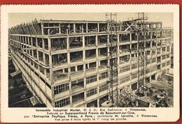 94- VINCENNES-Immeuble Industriel Morlet Rue Detrance-éxécuté En Superportland France- 6 Etages-scans Recto Verso - Vincennes