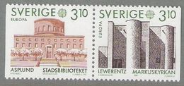Sweden Sverige 1987 Europa Archtecture Mi 1429-1430 From Booklet MH  120, MNH(**) - Neufs