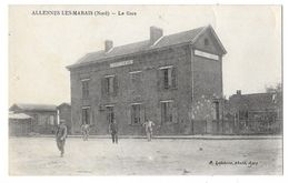 ALLENNES LES MARAIS (59) Vue Extérieure De La Gare - Francia