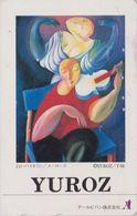 TC JAPON / 110-011 - PEINTURE USA & ARMENIA - YUROZ - Femme Au Violon Woman & Violin - JAPAN PAINTING Phonecard - 1914 - Malerei