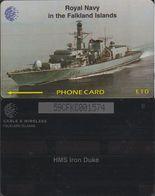 159/ Falkland Islands; Battle Ship, 59CFKC - Falkland