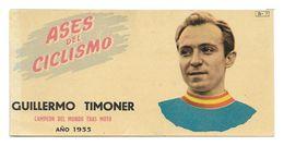 CARTE CYCLISME GUILLERMO TIMONER SERIE BATANGA 1955 - Cyclisme