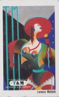 TC JAPON / 110-011 - PEINTURE ITALIE - LORENZO MATTOTTI - Woman & Hat - JAPAN PAINTING Phonecard / ItALY Rel - 1915 - Malerei