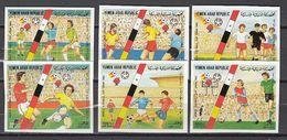 Soccer / Football / Fussball - WM 1982:  Y.A.R.  6 W **, Imperf. - 1982 – Spain