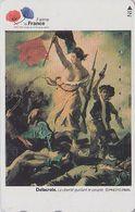 TC JAPON / 110-016 - PEINTURE FRANCE - DELACROIX - HISTOIRE REVOLUTION - LIBERTE Drapeau JAPAN PAINTING Phonecard - 1919 - Malerei