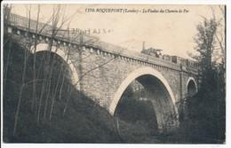 CPA 40 ROQUEFORT Le Viaduc Du Chemin De Fer Passage Du Train à Vapeur - Roquefort