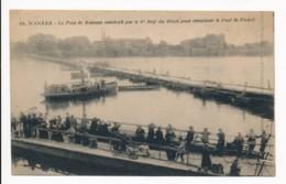 CPA 44 NANTES Le Pont De Bateaux Construit Par Le 6e Régiment Du Génie Pour Emplacer Le Pont De Pirmil - Nantes
