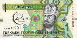 Turkmenistan - 1 Manat 2017 AA UNC Series - Turkménistan