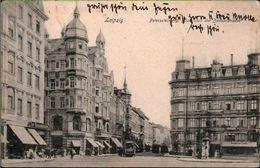 ! 1909 Alte Ansichtskarte Leipzig, Peterssteinweg, Zeitzer Straße, Straßenbahn, Tramway - Leipzig