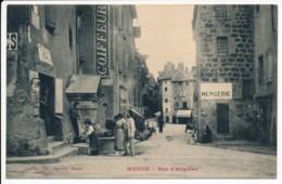 CPA 48 MENDE Rue D'Angiran Mercerie Coiffeur Tabac - Mende