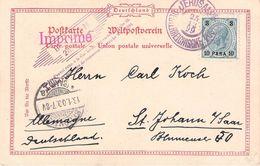 JERUSALEM - SOUVENIR POSTCARD 1899 -> ST. JOHANN /ak406 - Levant Autrichien