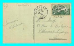 A852 / 257  Timbre N° 183 Sur CPA CARENNAC Cachet De 1924 - France