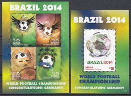 Soccer / Football / Fussball - WM 2014 :  Bequia  Kbg + Bl ** - 2014 – Brasilien