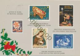 Postzegelkaart - Kerstdagen/Nieuwjaar [Z09-0.356 - Unclassified