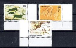 SOMALIA, 2002 - SERIE, SET - PITTURE RUPESTRI - ROCKY PAINTS,  ADF MNH** - Somalia (1960-...)