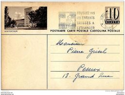 """5 - 82 - Entier Postal Avec Illustration """"Winterthur"""" Oblit Mécanique - Entiers Postaux"""