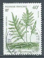 Polynésie Française YT N°268 Plante Médicinale Metuapua Phymatosorus Sp. Oblitéré ° - Polynésie Française
