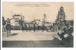 CPA 54 LUNEVILLE Arrivée Des Recrues D'Alsace 10 Février 1920 Etendards Des 8e Et 31e Dragons Drapeau 37e Infanterie - Luneville