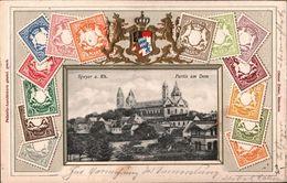 ! Alte Präge Briefmarken Philatelie Ansichtskarte Aus Speyer, Dom, Bayern, 1904 - Speyer
