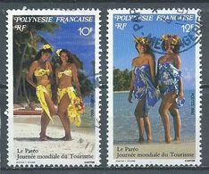 Polynésie Française YT N°366-367 Le Paréo Oblitéré ° - Oblitérés