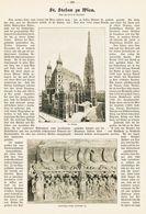 St.Stephan Zu Wien /  Artikel, Entnommen Aus Zeitschrift / 1912 - Libros, Revistas, Cómics