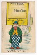CPA 56 SAINTE ANNE D'AURAY Rare Carte à Système Levez Le Truc Multivues Illustrateur Joseph PINCHON ? Bécassine ? - Sainte Anne D'Auray