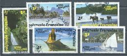 Polynésie Française YT N°399-400-401-402-403 Activités Touristiques Oblitéré ° - French Polynesia