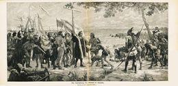 Die Aufrichtung Des Kreuzes In Amerika (nach Einem Gemälde Von José Germélo /  Druck, Entnommen Aus Zeitschrift / 1912 - Libri, Riviste, Fumetti
