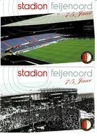 3 Ansichtkaarten Onbeschreven 75 Jaar Stadion Feyenoord - Unclassified