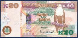 ZAMBIA 20 KWACHA P-52c FAUNA ANIMALS  BLACK LECHWE ANTELOPE 2014 UNC - Zambie