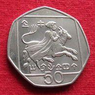 Cyprus 50 Cents 1991 KM# 66 Chipre Zypern Chypre Cipro - Chipre
