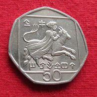 Cyprus 50 Cents 1993 KM# 66 Chipre Zypern Chypre Cipro - Chipre
