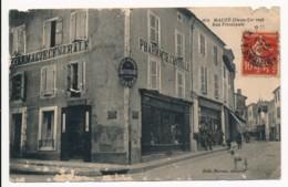 CPA 79 MAUZE SUR LE MIGNON Rue Principale Pharmacie Centrale - Mauze Sur Le Mignon
