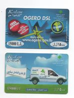 2 Kalam Used Phonecard 2010-2011 Lebanon, Telecarte Liban Libanon - Liban