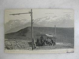 FERROVIAIRE - LUCHON - Chemin De Fer à Crémaillère De Superbagnères - L'arrivée D'un Train Au Sommet (animée) - Seilbahnen