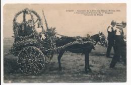 CPA 85 LUCON Souvenir De La Fête Des Fleurs 28 Juin 1914 Arrivée Du 1er Dragons Voiturette Des Bluets - Lucon