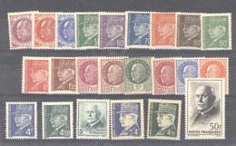 0ob  0140  -  France  :  Yv  505-25  ** - 1941-42 Pétain